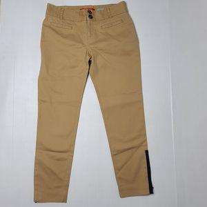 Cartonnier Anthropologie 0 Khaki Zip Ankle Pants